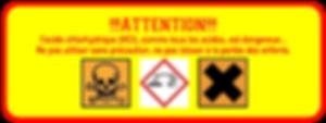 Logo danger acides
