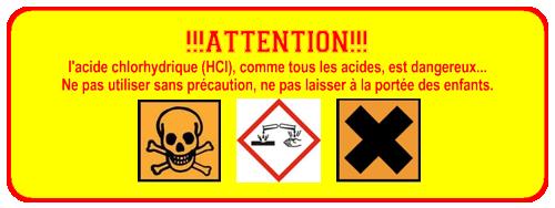 Logos danger acides