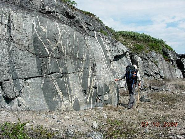 granite que l'on trouve sur les rives est de la baie d'Hudson