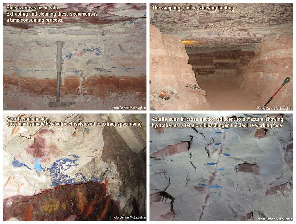 Photos dans la mine Malbunka.