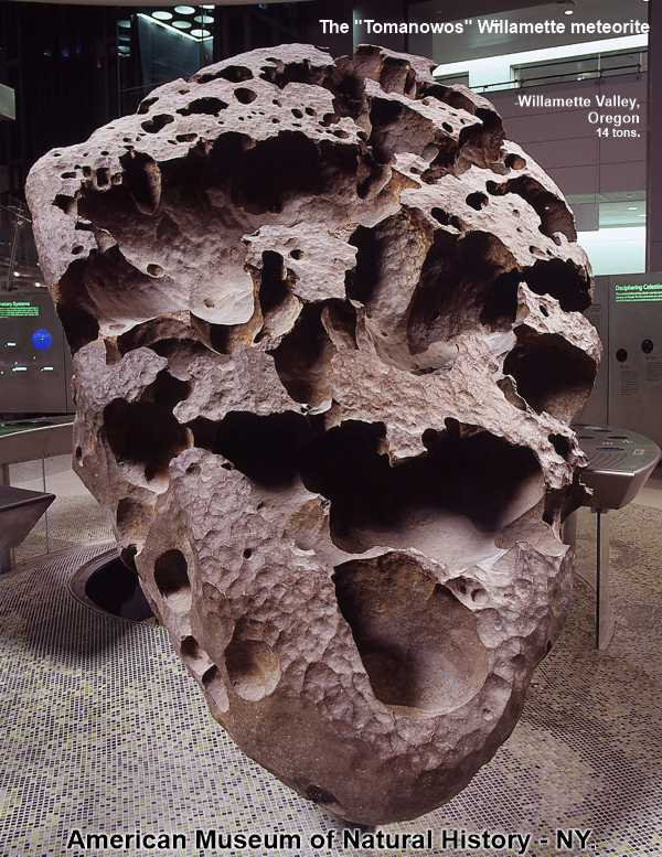 The Tomanowos - Willamette meteorite.