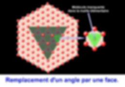 Troncature en cristallographie, milécule mnquante