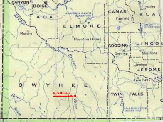 Localisation, rivière Bruneau et de la rivière Jarbidge dans le canyon Bruneau