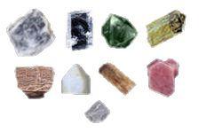 Lot de minéraux de référence durtée