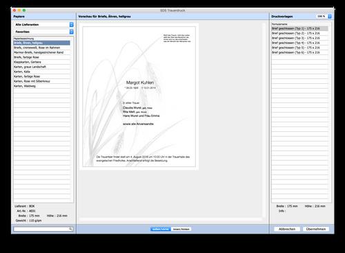 Trauerdruck-Browser Beispiel 1