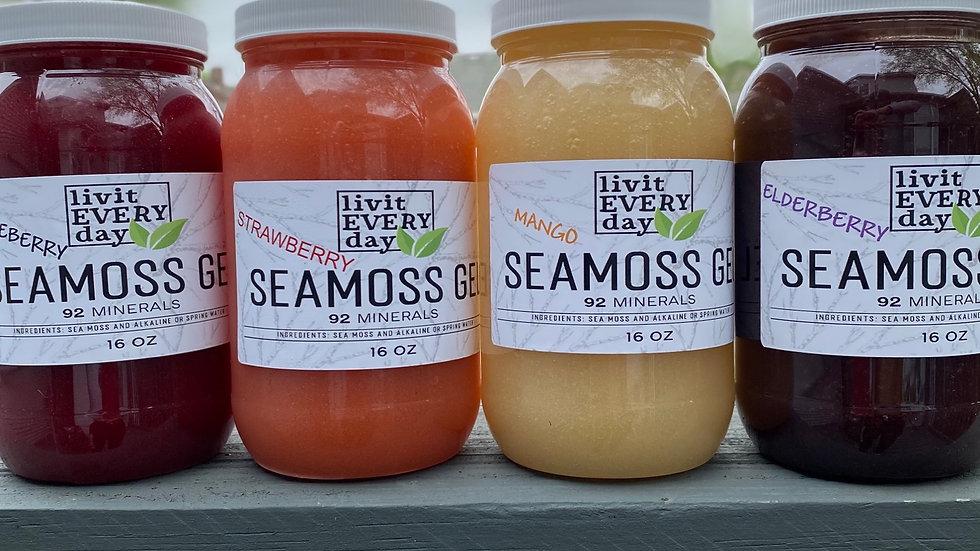 Flavored seamoss gel