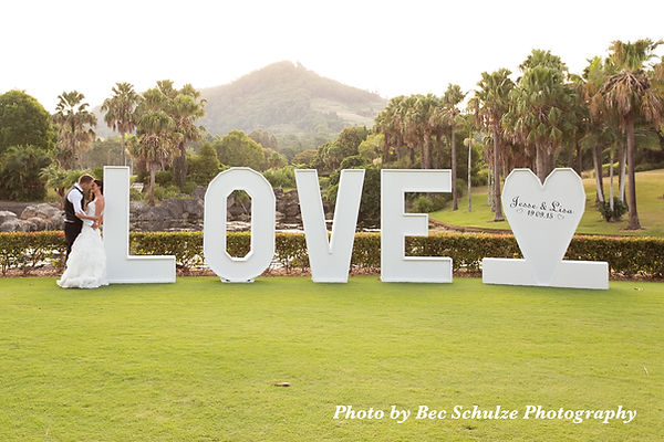 LOVE Letters & LOVE Heart at Bonville Golf Resort