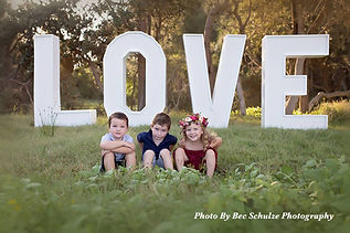 Giant 6ft Tall LOVE Letters During the day family photo