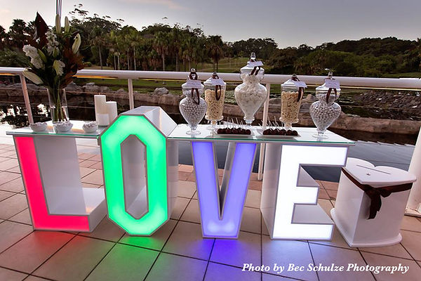 Light up LOVE Table