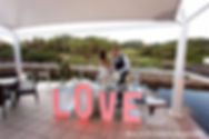 Light up LOVE Table with Candy Bar Wedding Decor