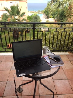 My Greek open-air office ...