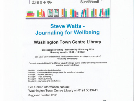 Journaling for wellbeing course starts this week ...