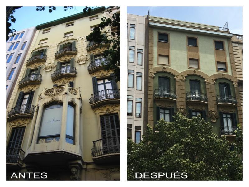 Fachada en Rambla Catalunya