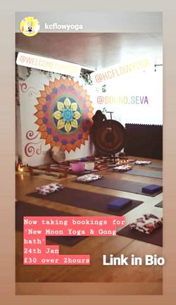 New Moon Yoga Gong Bath