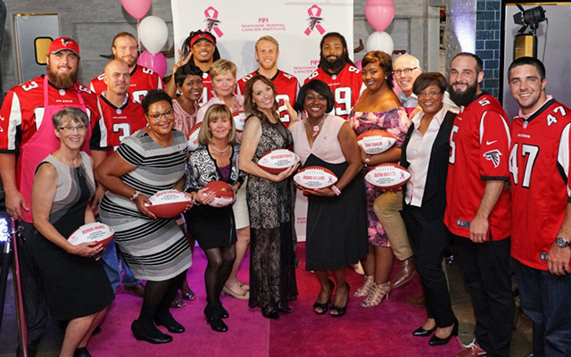 Dazzle & Dine Recipients and Atlanta Falcons Players