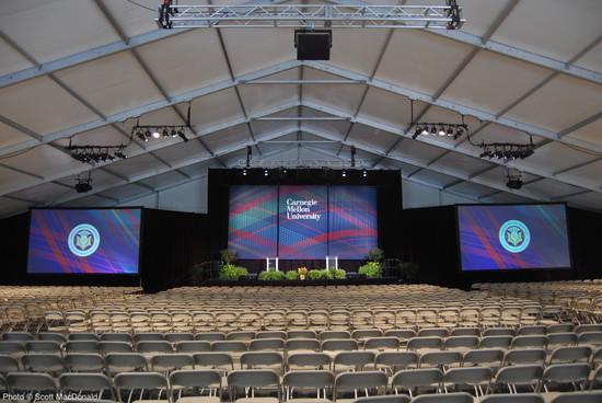 CMU Orientation Tent Center