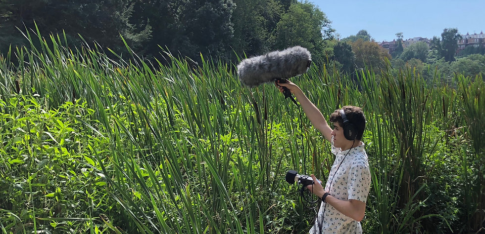 Sound designer Scott MacDonald field recording