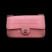 Pink Alligator Skin Chanel Had Bag
