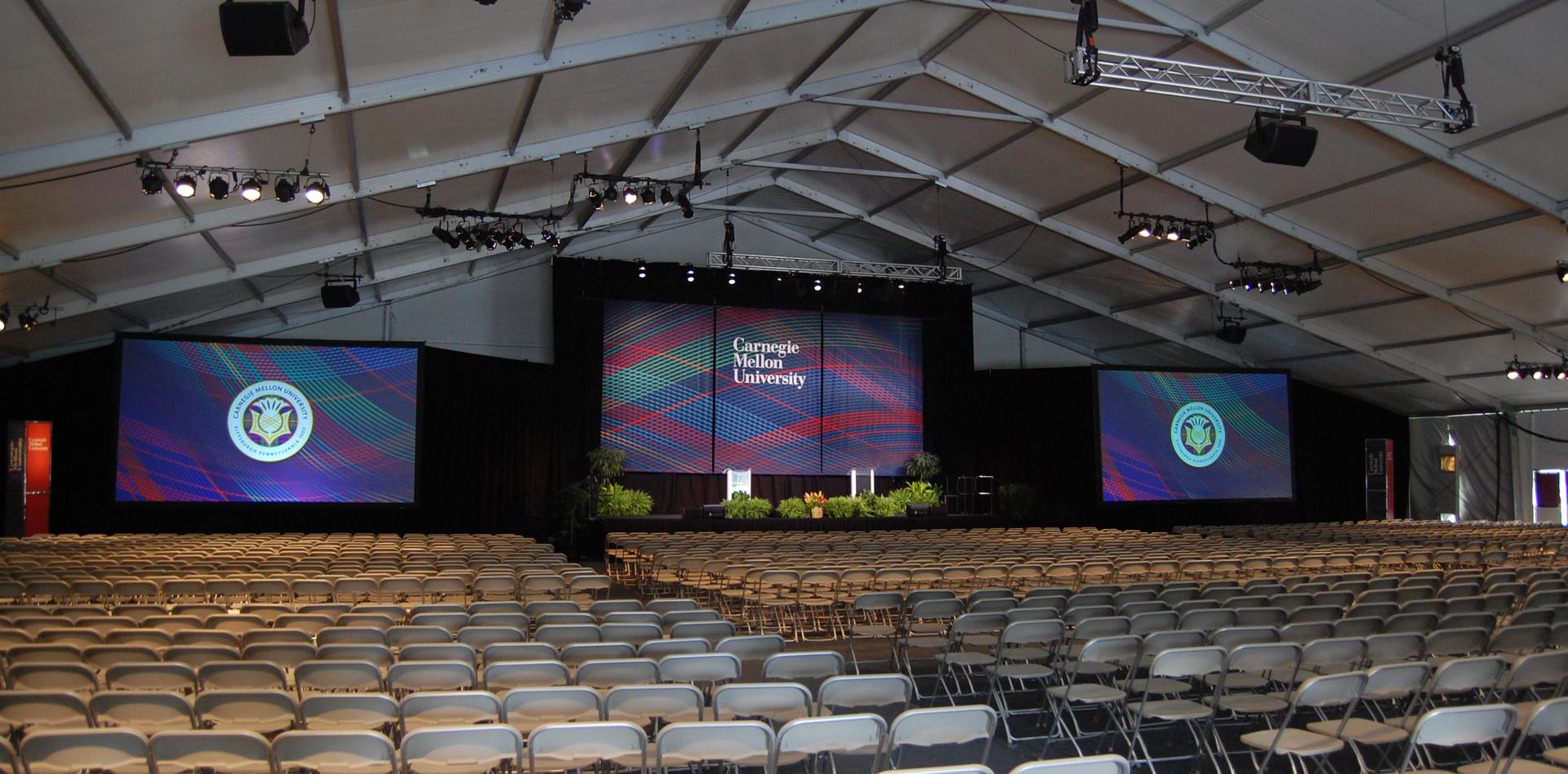 CMU Orientation Tent Side