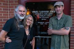 Avec Martina et Phil Lewis