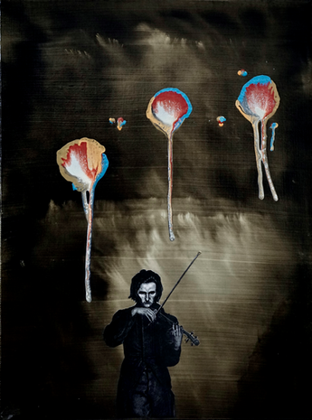 Violinist and Balloons