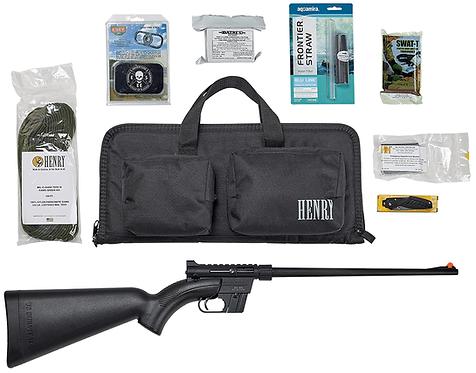 Henry U.S. Survival AR-7 Black Kit w/Survival Gear and Bag
