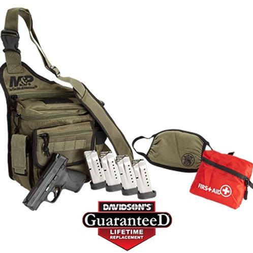 S&W M&P9 Shield w/ Bug Out Bag