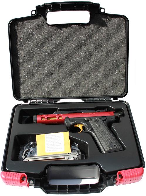 Ruger MK IV 22/45 Red Anodized, Gold Trigger & Barrel Rimfire Pistol
