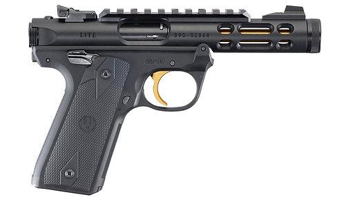 Ruger MK IV 22/45 Lite - Black with Gold Trigger & Barrel Rimfire Pistol