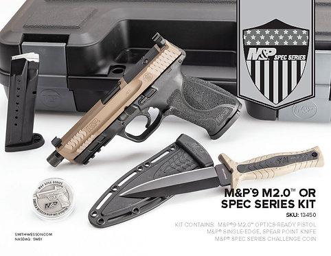 S&W M&P9 M2.0 9MM OR Spec Red Dot Series Pistol Kit