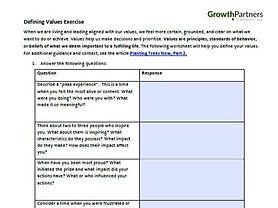 Defining Values Exercise