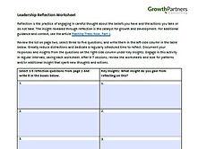 Leadership Reflection Worksheet