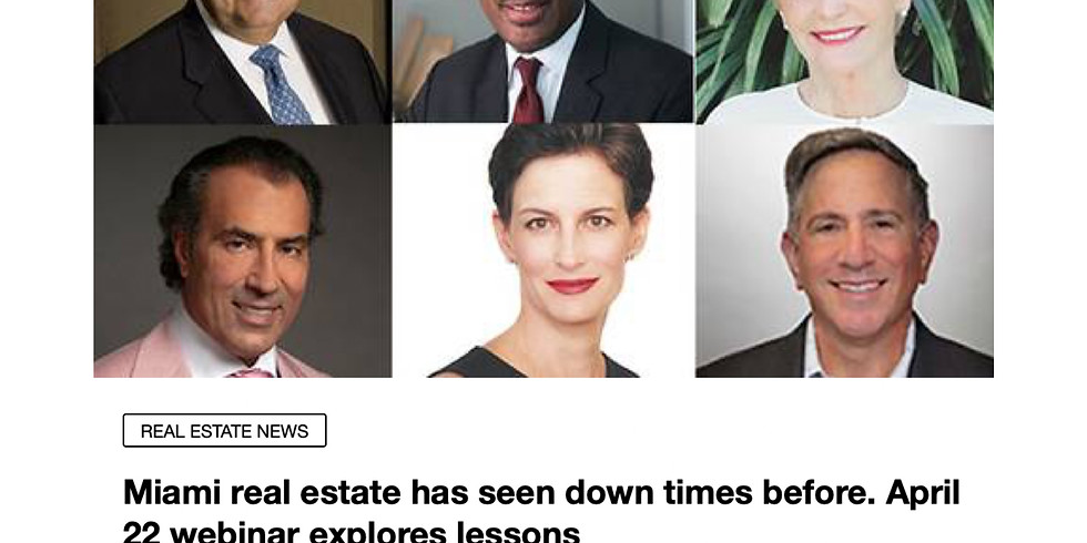 10am.  Miami Herald Presents: Lessons from the Past Webinar Registration