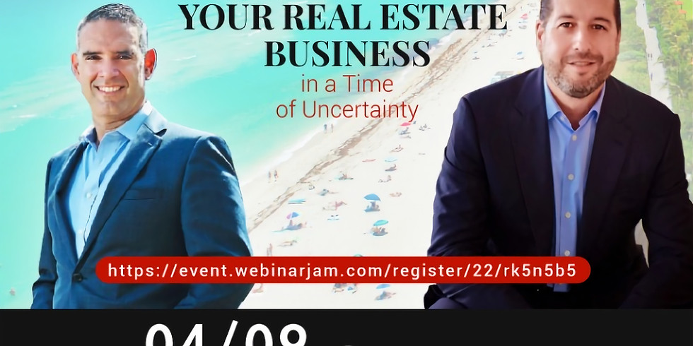 11am.  Three steps to Grow your Real Estate Business
