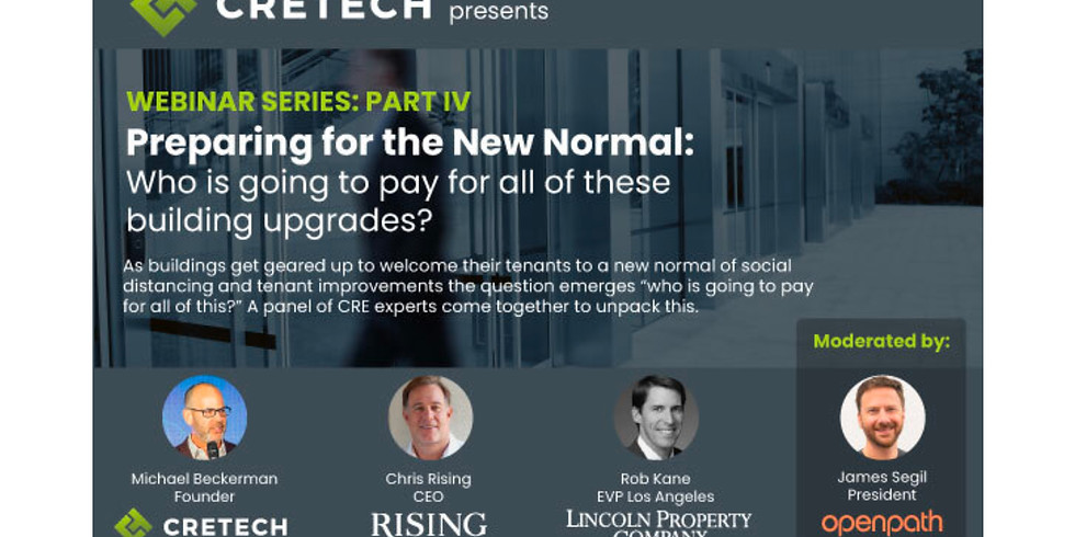 11am.  Preparing the built world for the new normal: What does that look like and where should you start?