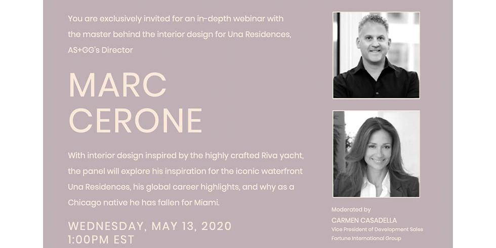 1pm.  Una Residences + Marc Cerone Virtual Panel