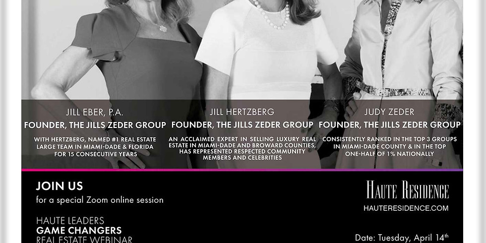 2pm.  Haute Residence: Real Estate In Crisis and Quarantine, The Jills Zeder Group