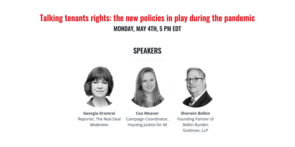 5pm.  Talking tenants rights: the new policies in play during the pandemic