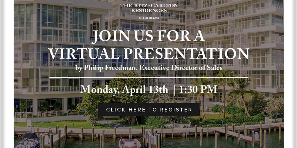 1.30PM.  Project Presentation:  The Ritz Carlton, Miami Beach