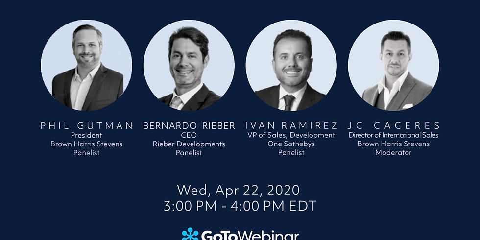 3pm.  COMMERCIAL DEVELOPMENT PANEL: IMPACT OF THE COVID19 IN SOFLA MARKET