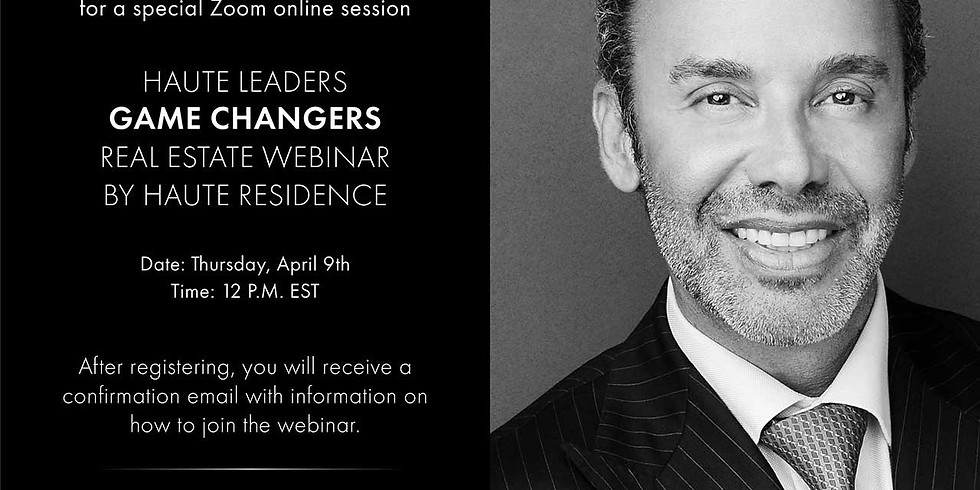 12pm.  HauteResidence: Jay Parker, CEO of Douglas Elliman Florida Brokerage Talks Real Estate in the Age of COVID-19