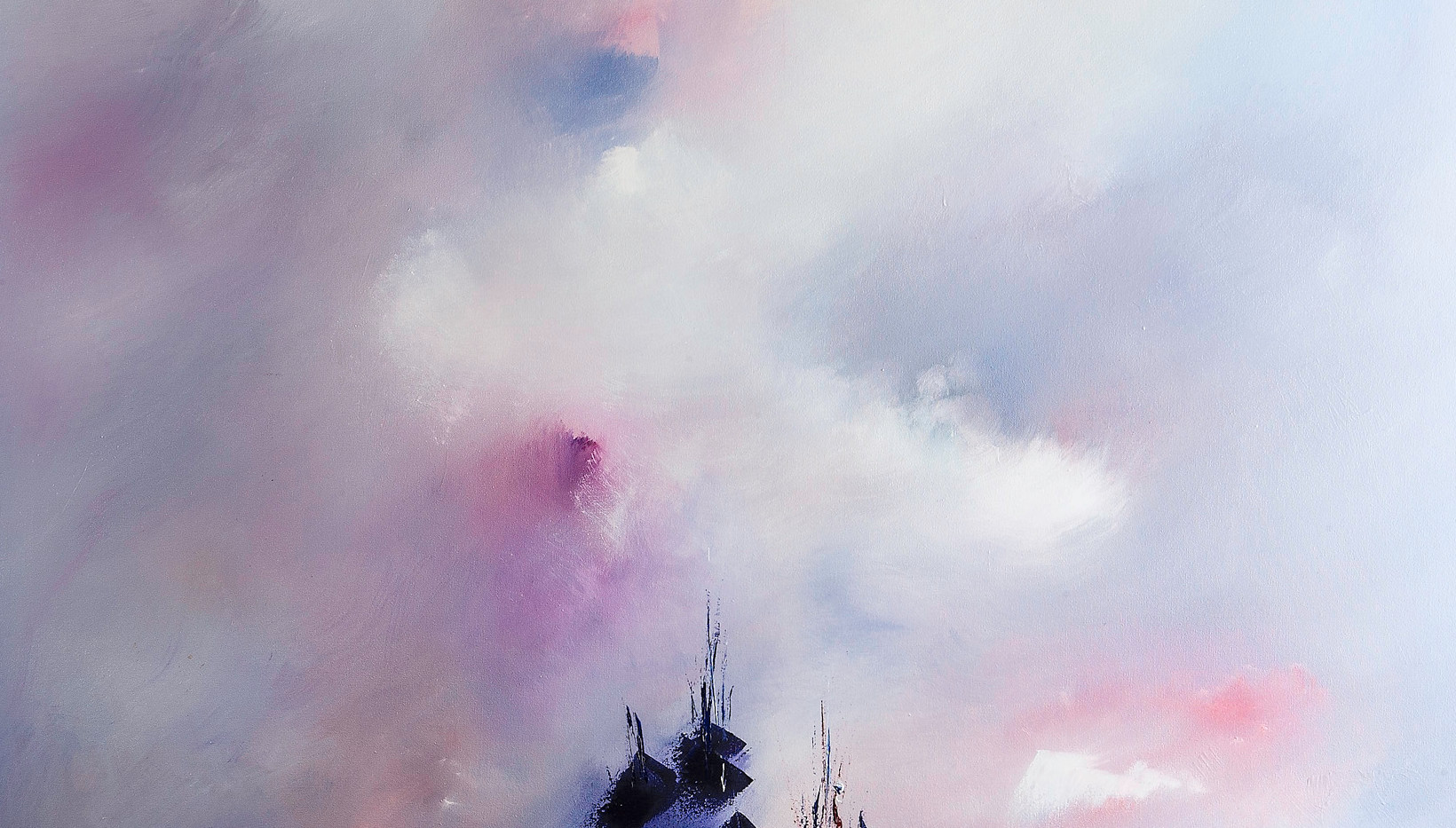 Viaje místico óleo sobre lienzo 160 x 110 cm