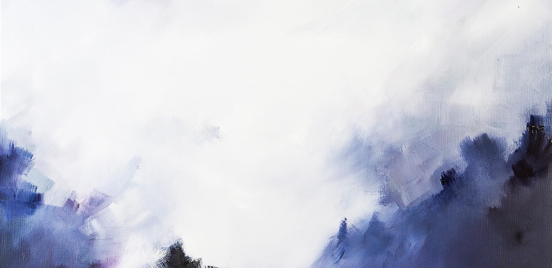 Diluvio de luz óleo sobre lino 190 x 130 cm