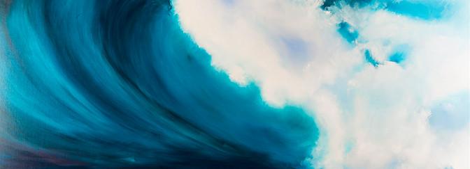 Despertar del océano óleo sobre lino 200 x 200 cm