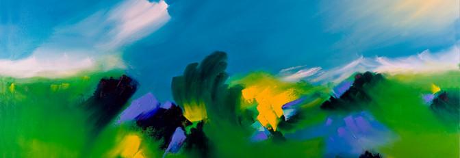 Alegría en la pradera óleo sobre lienzo 100 x 150 cm