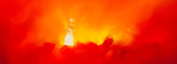 Mensajero celestial óleo sobre lino 60 x 80 cm