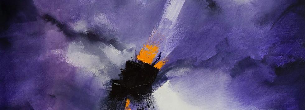 Devoción óleo sobre lino 140 x 96 cm