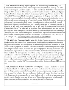 HWS Theatre Courses Fall 2021 Page 2 of 2