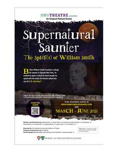 Supernatural Saunter Playbill Cover