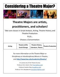 Supernatural Saunter Playbill Theatre Major Ad